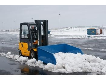 kallutusega lumesahk-kopp tõstuki kahvlite külge SK 1,1000 L.