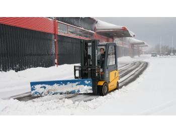 kahveltõstuki lumesahk SPR20, laius 2000 mm, kummist alaservaga